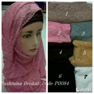 Pashmina Brokat - code P0084