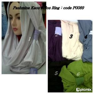 distributorjilbabmurah-Pashmina kaos polos ring p0089