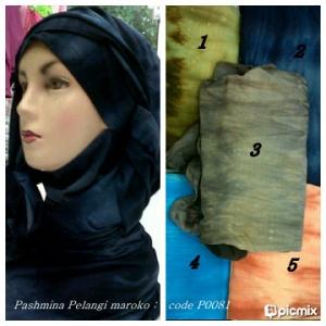 distributorjilbabmurah-Pashmina Pelangi & Maroko - P0081